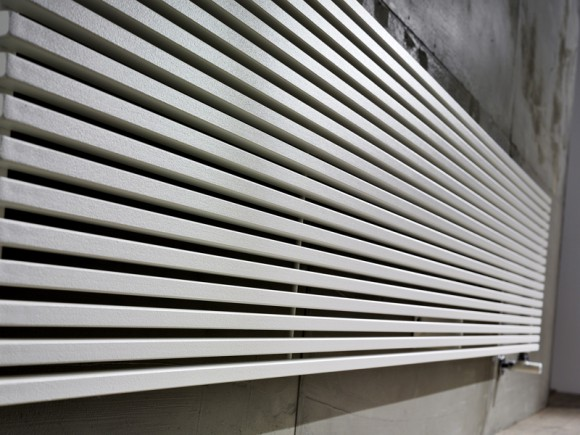 modern horizontal radiator detail
