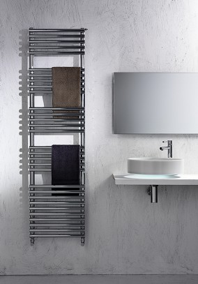 chromed carbon steel towel rail