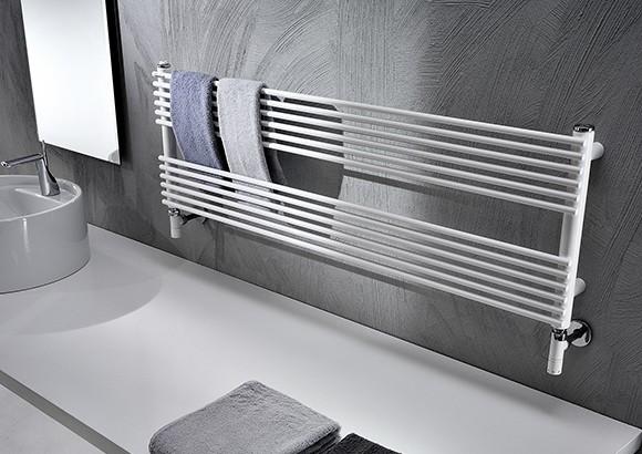 Scaldasalviette acciaio con sviluppo orizzontale for Scaldasalviette dwg