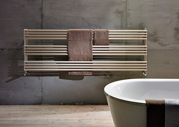 Horizontal towel warmer to exploit every space of the bathroom - Seche serviette horizontal ...