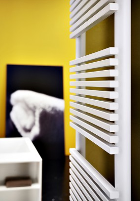 square tube towel radiator detail