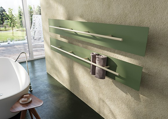 green coloured radiator