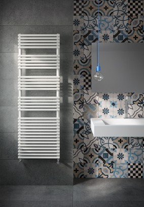 carbon steel heated towel rail