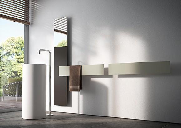 Termoarredi ultrapiatti dal look minimale e geometrico - Termoarredi per bagno ...