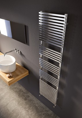 chromed towel warmer