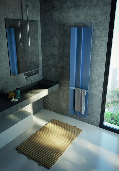 Termoarredo elettrico design disegnato da daniel libeskind per antrax it - Termoarredo per bagno ...