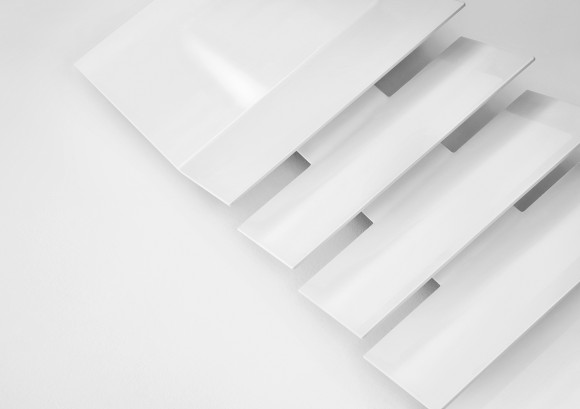 slimline white vertical radiator
