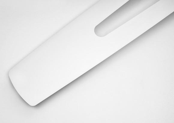 white thin vertical radiator
